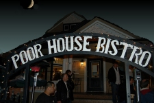 Poor                                                           house bistro                                                           night time